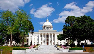 The State Capitol Building in Montgomery, completed in 1851 Alabama Capitol Building.jpg