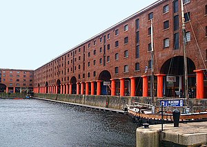 The Albert Dock's design allowed ships to lay ...