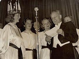 A Nobel-díjas Szent-Györgyi Albert köszöntése 1937. december 13-án