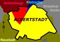 Albertstadt statistischer Stadtteil und Gemarkungen.SVG