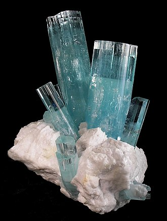 Gilgit District - Large Aquamarine Beryl, Haramosh Mts., Gilgit District.