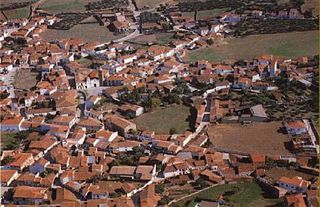 Aldeacentenera village in the province of Cáceres and autonomous community of Extremadura, Spain