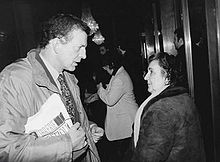 Aldo Busi con la poetessa Alda Merini