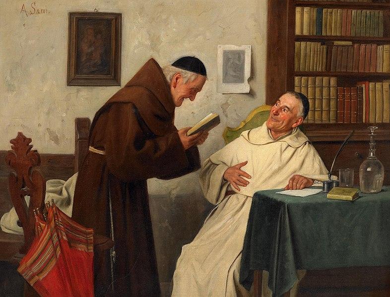 File:Alessandro Sani In der Klosterbibliothek.jpg