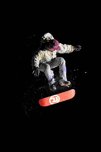 Snowskate - Snowskating combine elements of snowboarding and skateboarding to create a new experience which is most closely described as skateboarding on snow.
