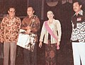 Ali Moertopo, G Dwipayana, Mrs Ali Moertopo, and Turino Djunaedy, Festival Film Indonesia (1982), 1983, p62.jpg
