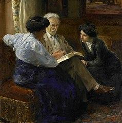 Alphons Marie Antoine Joseph Grandmont (1837-1909), the Artist's second husband, Tutoring two Italian Girls