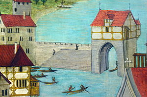 Bauschänzli - Grendeltor by Hans Leu at the end of the 15th century AD