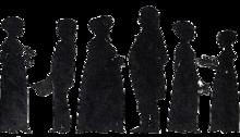 Silhouette della famiglia Altenburg/Paus