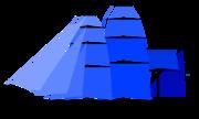 Alternate fully rigged ship sail plan