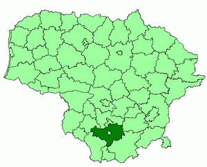 Alytus District Municipality - Image: Alytus district location