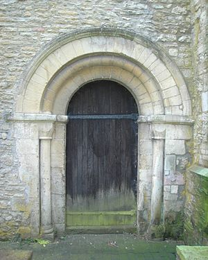 Ambrosden - St Mary the Virgin parish church: 12th-century Norman north doorway