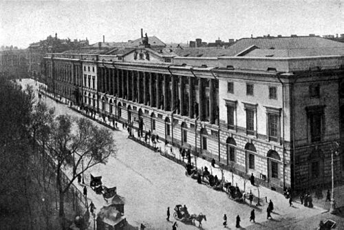 The Neoclassical building on the Nevsky Avenue. Americana 1920 Libraries - Petrograd Public Library.jpg
