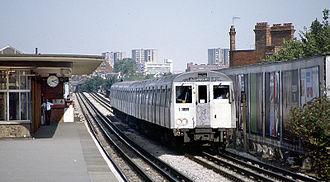 London Underground infrastructure - The older Metropolitan line train bound for Amersham