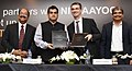 Amitabh Kant and the Member, Executive Board of SAP Global, Mr. Bernd Leukert at the signing ceremony of Statement of Intent (SOI) between NITI Aayog's Atal Innovation Mission and SAP Labs. India.jpg