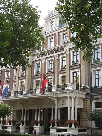 InterContinental Amstel Amsterdam - Image: Amstelhotel entry