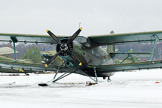 Antonov An-2 - An-2 on skis at Volosovo air field, Moscow region