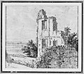 An Allée of Trees in a Park (recto); The Ruins of a Building on a Hill (verso) MET 263505.jpg