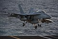 An F A-18F Super Hornet lands on deck. (6466286227).jpg