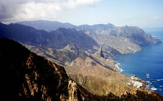 Macizo de Anaga mountain range in the northeastern part of the island of Tenerife in the Canary Islands
