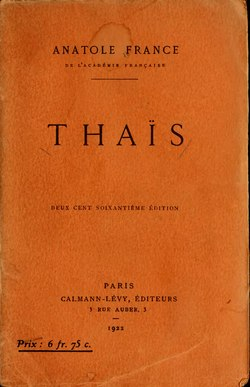 Image illustrative de l'article Thaïs (roman)