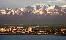 Anchorage and the Chugach Mountains