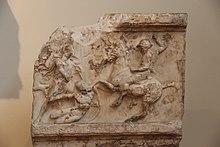 Ancient Greece Marble Funerary Stele (28208852430).jpg