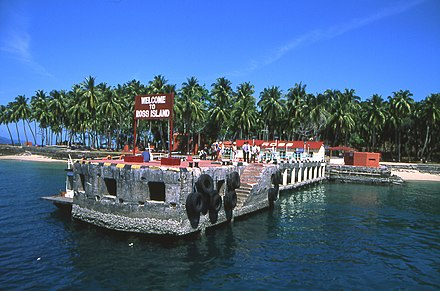 Ross Island, in the Andamans, was one of the main naval bases of British India during World War II Andaman ross is.jpg