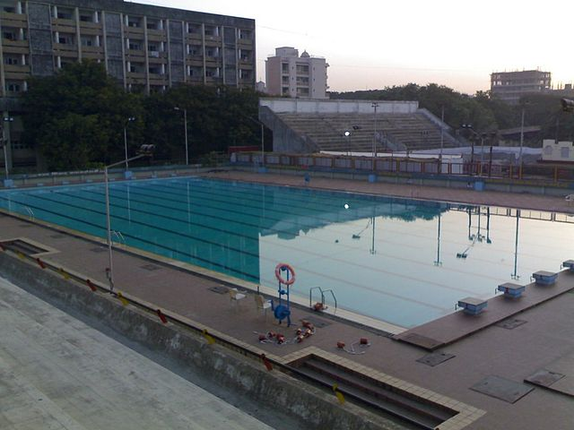 File andheri sports complex olympic size swimming wikimedia commons for Olympic swimming pool capacity