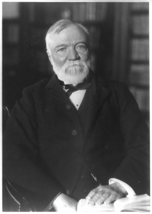 History of public library advocacy - Andrew Carnegie (25 November 1835 – 11 August 1919) was an American businessman, philanthropist, and major supporter of public libraries.