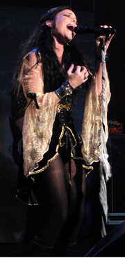 New lead singer Anette Olzon performing live on the Dark Passion Play tour in Seattle (USA) 2007.