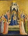 Angelico, madonna col bambino e dodici angeli, 1430 circa.jpg