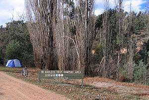 Anglers Rest, Victoria - Anglers Rest Camping Area alongside the Cobungra River and Omeo Highway