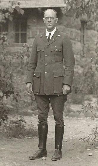 Angus M. Woodbury - Woodbury in 1925 at Zion National Park