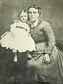 Photo of Ann Everington Roberts and child