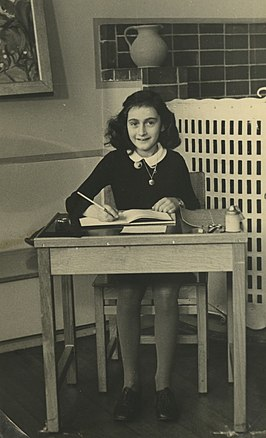 Anne Frank (6e Montessorischool Amsterdam, 1940)(collectie Anne Frank Stichting)