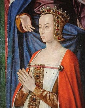Anne of France - Portrait of Anne of France, from a triptych by Master of Moulins