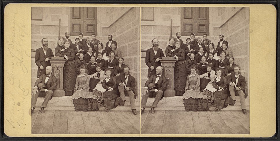 Annual Class of Syracuse University, July 1876, from Robert N. Dennis collection of stereoscopic views