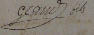 Ansignan - Signature of mayor Joseph Grand (Jr.) in 1815