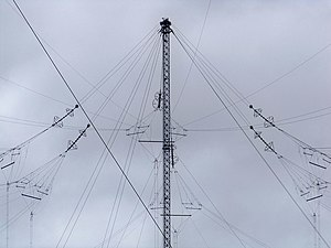 Anthorn Transmitting Station Communications Masts - Cable Detail ^2 - geograph.org.uk - 1804401.jpg