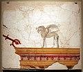 Antica roma, frammento di affresco con grifone su un cornicione, I secolo dc.jpg