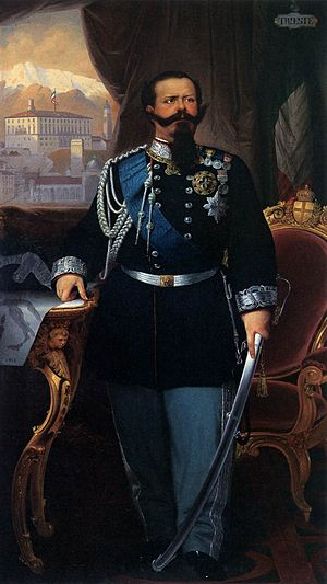 Antonio Dugoni - Portrait of King Victor Emanuel, Galleria d'Arte Moderna, Palazzo Pitti, Florence