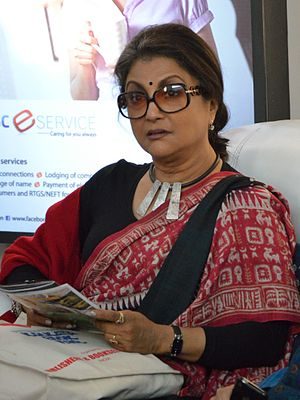 Aparna Sen - Sen during the 38th International Kolkata Book Fair (2014)