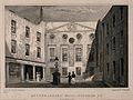 Apothecaries' Hall; the courtyard. Engraving by J. Hinchliff Wellcome V0013080.jpg