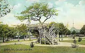 Salem, New Hampshire - Under the Apple Tree in 1908, Canobie Lake Park