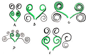 Examples of the basic form of the arabesque , taken from existing ... Easy Arabesque Art