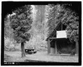 Arboretum, view of entrance shelter - Wind River Administrative Site, Near Lookout Mountain Road, Carson, Skamania County, WA HABS WA-232-67.tif