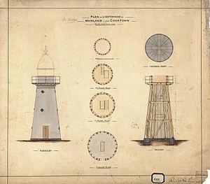 Archer Point Light - Plans for the original lighthouse, 1882