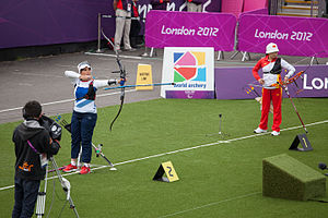 World Archery Federation - Sharon Vennard and Yan Huilian at the 2012 Summer Paralympics