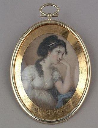 Archibald Robertson (painter) - Archibald Robertson, Eliza Abramse Robertson, 1794, watercolor on ivory